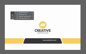 Create website text layer