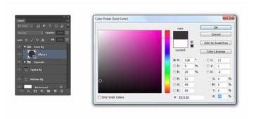 Set shape color