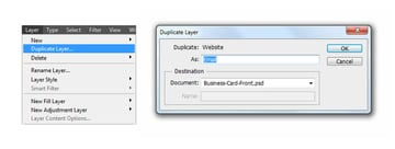 Duplicate layer to email