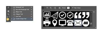 Select email custom shape