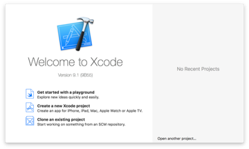 Figure 1 Create an Xcode Project