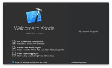 Figure 2 Open Xcode