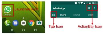 WhatsApp Icons Example