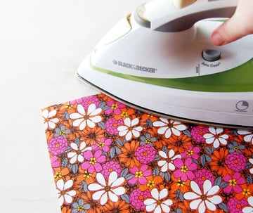 Iron your fabric