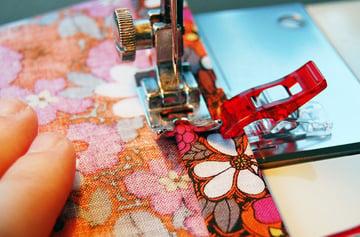 Sew around the entire edge of your tea towel or napkin