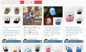 Instagram gallery with Carousel