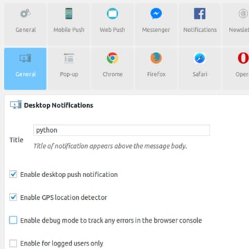 Enable notifications with Smart Notification
