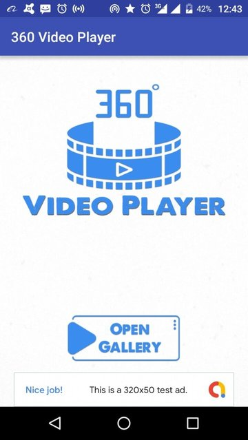 360 Video Player app
