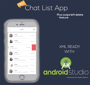 Chat List Template Design