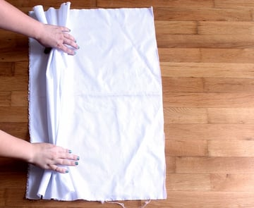 place the fabric on your working surface