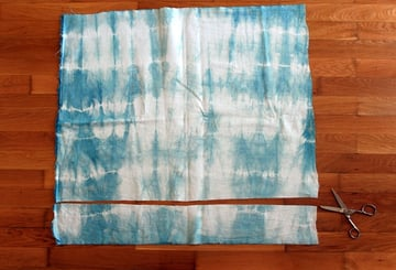 trim off a strip of the fabric