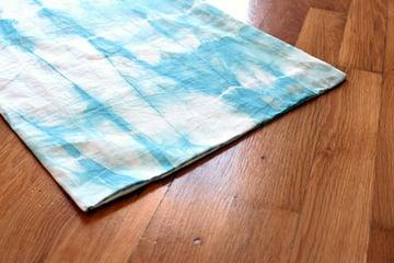 Sewn edge of fabric