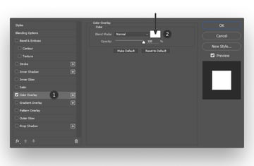 Selecting a Color Overlay