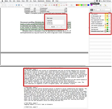 With this script I can join highlight underline or strikeout notes hold command key if you want to select all of them