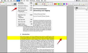 Reading Bar is a great feature to help you focus on the document To resize the reading bar hold down the Shift key and drag the bar with mouse