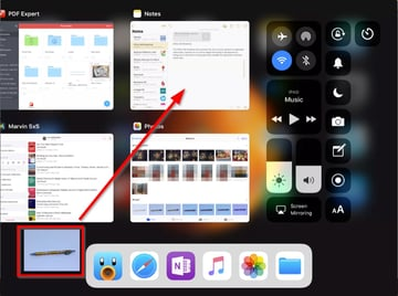 drop the image from app switcher