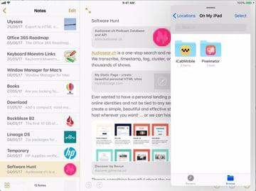 slide over in iOS 11