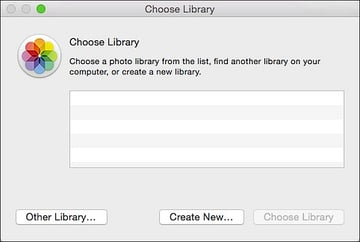 choose library from the photos app