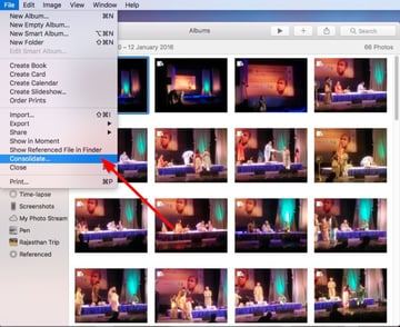 consolidate reference image in photos app