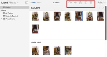 iCloud Photo library on the Web