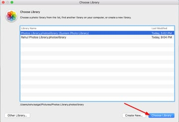 choose another library from the dialog box