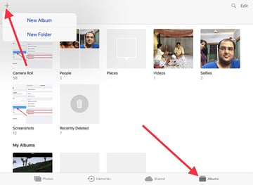 long press plus button to create a folder