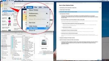 hide application window except for active window