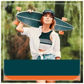 Photoshop Tutorial for Instagram add orange rectangle