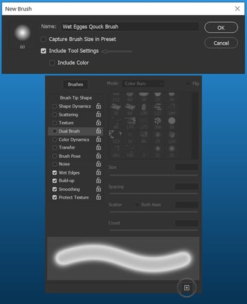 save brush settings in photoshop