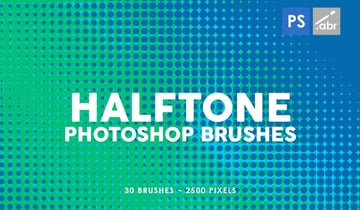 30 Halftone Gradients Photoshop Stamp Brushes