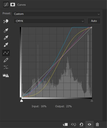 curves for color grade