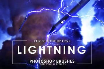 50 Lightning Photoshop Brushes
