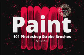 101 Photoshop Paint Stroke Brushes