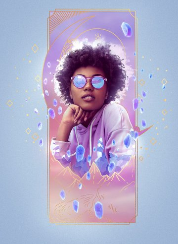 how to make crystal effect in photoshop