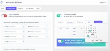 Manual Scheduler options