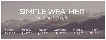 Simple Weather Best Selling WordPress Plugin