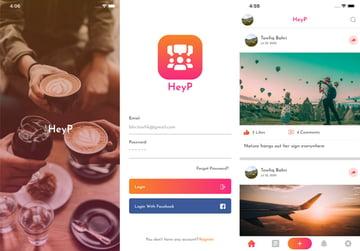 HeyP Flutter Social App