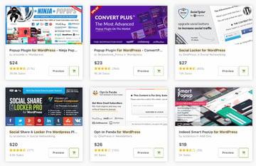 Topselling social locker plugins on CodeCanyon