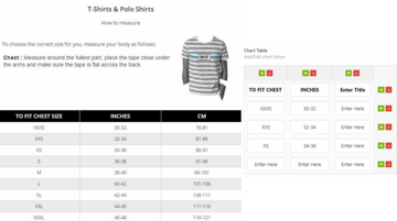 Product Size Charts Plugin for WooCommerce