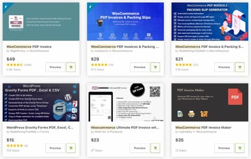 Bestselling WooCommerce PDF Invoicing Plugins on CodeCanyon