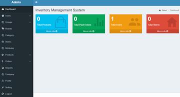 Online Inventory Management System in PHP MySQL