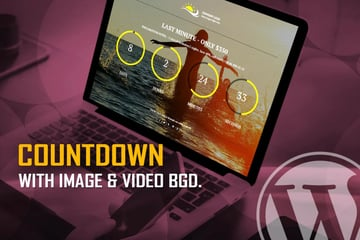 Countdown with Image & Video Background