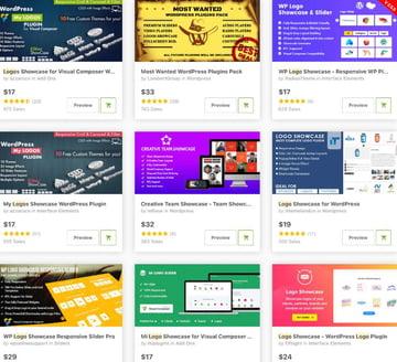Topselling Logo Showcase Plugins on CodeCanyon