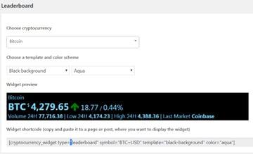 Premium Cryptocurrency Widgets | WordPress Crypto Plugin