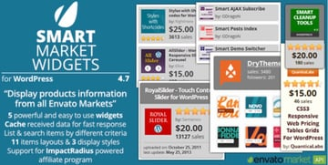 Smart Market Widgets - Plugin for WordPress and Envato Market