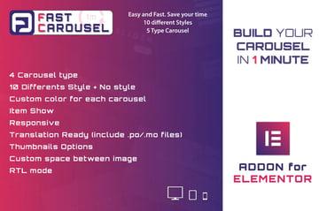 Fast Carousel for Elementor - WordPress Plugin