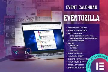 EventoZilla Event Calendar Elementor Widget Addon