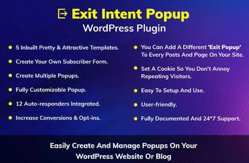 Plugin de WordPress para popup de intención de salida