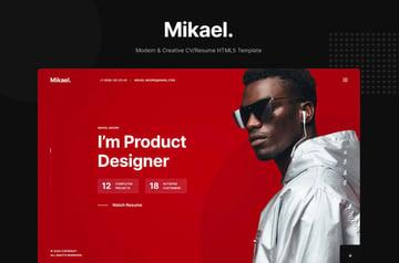 Mikael - Modern & Creative CV/Resume Template