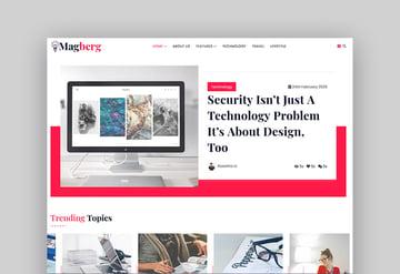 Magberg - Blog & Magazine HTML Template